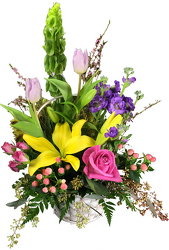 Spring Celebration Basket from your local Clinton,TN florist, Knight's Flowers