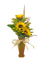 Sunflower Budvase from your local Clinton,TN florist, Knight's Flowers