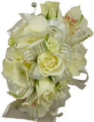 White Rose Corsage from your local Clinton,TN florist, Knight's Flowers
