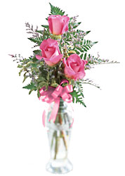 Triple Delight Bud Vase from your local Clinton,TN florist, Knight's Flowers