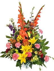 Cherished Memories Funeral Basket from your local Clinton,TN florist, Knight's Flowers