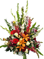 Garden Tribute Funeral Basket from your local Clinton,TN florist, Knight's Flowers