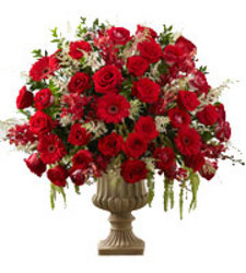 Rose Urn Arrangment from your local Clinton,TN florist, Knight's Flowers