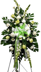White Splendor Standing Spray from your local Clinton,TN florist, Knight's Flowers