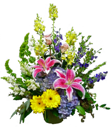 Heaven's Garden Basket from your local Clinton,TN florist, Knight's Flowers
