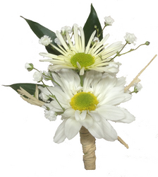 On Cloud Nine boutonniere  from your local Clinton,TN florist, Knight's Flowers