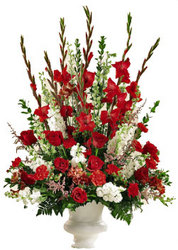 Passionate Red Centerpiece from your local Clinton,TN florist, Knight's Flowers