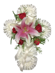 Satin Cross Pillow  from your local Clinton,TN florist, Knight's Flowers