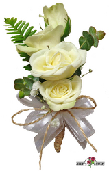 Simply Chic Boutonniere from your local Clinton,TN florist, Knight's Flowers